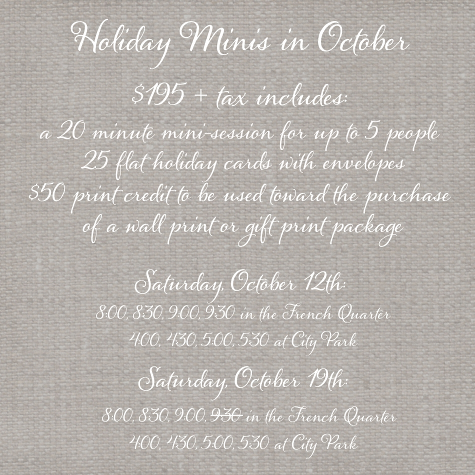 holiday minis graphic 2013